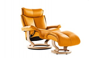 Ekornes Stressless Magic recliner mustard Hansen Interiors